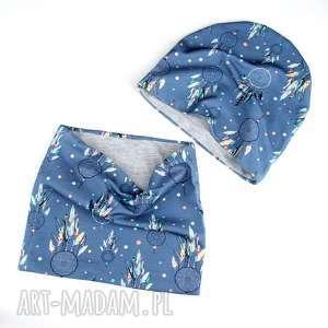 ręczne wykonanie ubranka czapka komin dwustronny łapacz snów dla dziecka