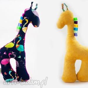 Żyrafka PAWIE żółty, żyrafka, przytulanka