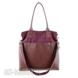 fiella - duża torba burgund, praktyczna, modna, oryginalna, klasyczna