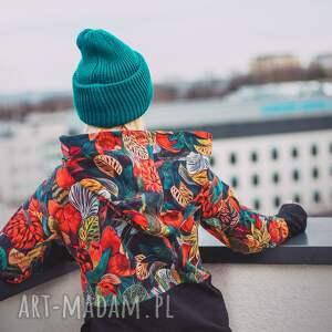 oversize bluza, patchwork, tajemniczy ogród, lato xl/xxl, kolorowa bluza