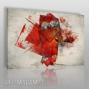 obraz na płótnie - czerwony abstrakcja sztuka 120x80 cm 83001