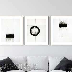art krystyna siwek zestaw 3 obrazów 40 x 50 cm wykonanych ręcznie, abstrakcja