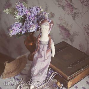 Lalka Józefina - Wiktorańska Wróżka, lalka, wróżka, retro, lawendowa, koronka