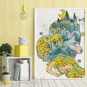 parallel world sen księżniczki 30x40 cm, plakat, dziewczynka, obrazek