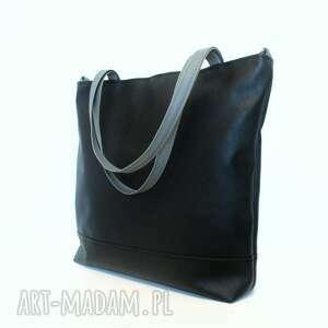 Shopper bag, torba, czarna, klasyczna, shopper, modna