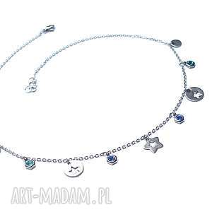 choker - alloys collection - line star vol 7 - stal, szlachetna, swarovski, gwiazdki