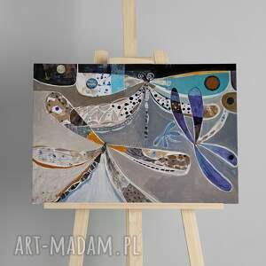 obraz - wydruk 120x80 cm ważki, obraz, wydruk, abstrakcja, foto
