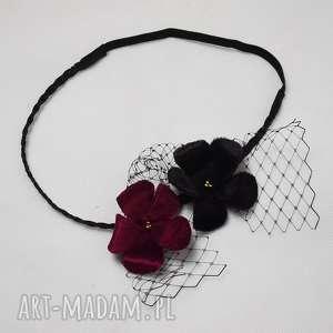 Opaska welurowa ozdoby do włosów fascynatory opaska, kwiaty