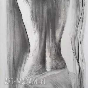 woman!, duża-grafika, kobieta-grafika, kobieta-obraz, rysunek-węglem-akt