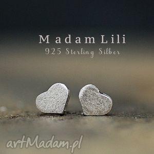 925 Mini kolczyki sztyfty SERCA, serca, kolczyki, sztyfty, miłość, walentynki, kocham