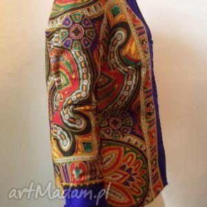 folk design kurtka letnia - niebieska 36 - kurtka, letnia, góralska, chusta, folk