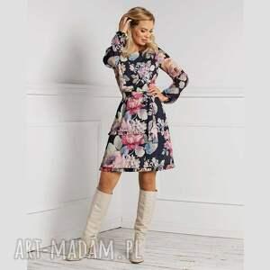 sukienki sukienka dolly mini genevieve, mini, kwiaty, kwiatowy