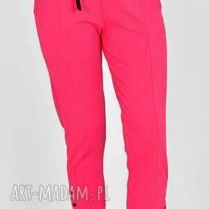 spodnie skinny gloria fuksja, spodnie, skinny, ze ściągaczem, sportowe