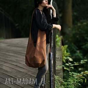 ruda torba hobo w stylu boho / long boogi bag - do noszenia przez ramię