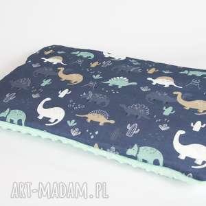 płaska poduszka minky - dinozaury - 40x60 cm - poduszka, poszewka, minky