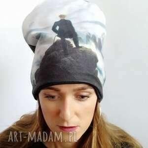 czapka wędrowiec podróżnik, góry, tatry nadruk