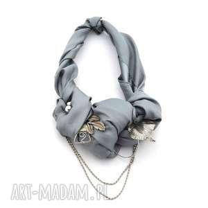silver rocket naszyjnik handmade - naszyjnik, kolia, srebrny, szary, popiel, metalowy