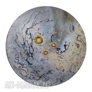 krajobraz księżycowy 29, planeta, ziemia, księżyc, abstrakcja, tondo, niebo