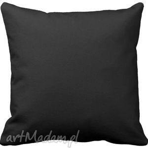handmade poduszki poduszka ozdobna dekoracyjna czarna gładka 6570