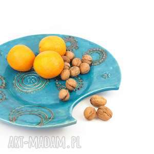 ceramika patera wycięta xl, ceramika, patera, talerz