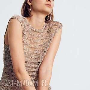 handmade swetry bluzka sweter siatka faro
