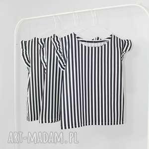bluzeczka w paski biało czarne, paski, pasy