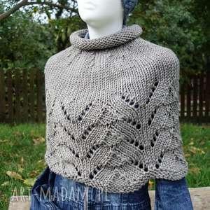 poncho otulacz dover, otulacz, sweter, dziergany, miękki, miły, prezent