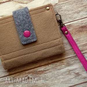 portfele mały filcowy portfel, portmonetka, filcowa, mała, prezent, zakupy