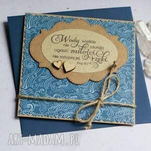 kartka ślubna wody wielkie blue, ślubna