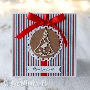 kartka świąteczna na boże narodzenie po godzinach - brązowe
