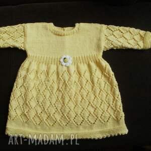 bawełniana sukienka słoneczna, sukieneczka, rękodzieło, na drutach, włóczka