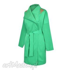 Narzutka/Trencz Zielona / Furisode Midori, płaszcz, trencz, narzutka, outfit, wiosna