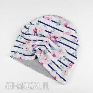 Czapka dwuustronna dla dziecka magnolie, dziecko, czapka, ciepła