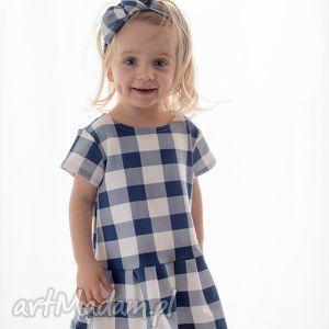 Sukienka w kratę, sukienka, dzianinowa, kraciasta, kratka, dziewczęca