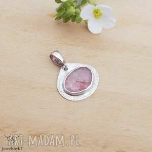 hand-made wisiorki turmalinowy róż - wisior