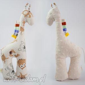 Żyrafka MISIAKI kremowy, żyrafka, przytulanka