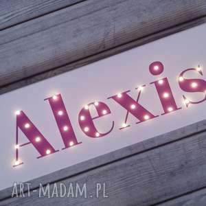 napis led twoje imię personalizowany prezent obraz dekoracja lampa dla dziecka