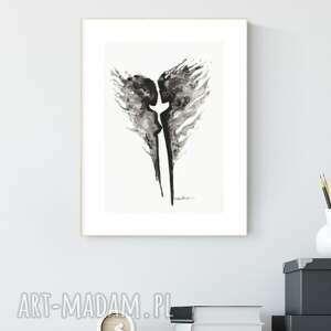 plakaty grafika a4 malowana ręcznie, abstrakcja, styl skandynawski