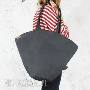 shelly bag grafitowa torba w kształcie koszyka, prosta, pojemna, oryginalna