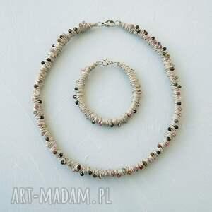 komplet biżuterii z turmalinem