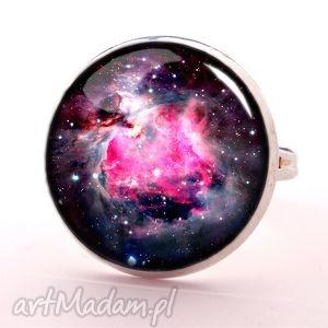 nebula - pierścionek regulowany, kosmiczny, galaxy