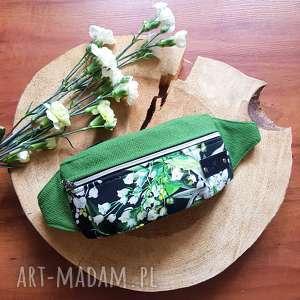 ręczne wykonanie nerki nerka saszetka w kwiaty konwalie kolorowa wegańska