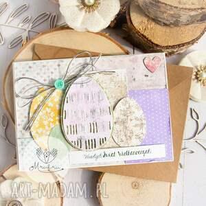 scrapbooking kartki urocza wielkanocna kartka, w kopercie święta wielkanocne