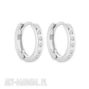 srebrne kolczyki kółka z kryształami swarovski® crystal