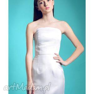 ślub nowa kolekcja - bianco, gorsetowa, sukienka, ślubna, prosta