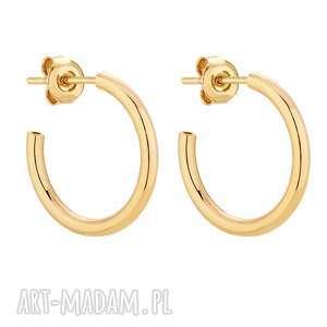 złote półokrągłe kolczyki l - kółeczka