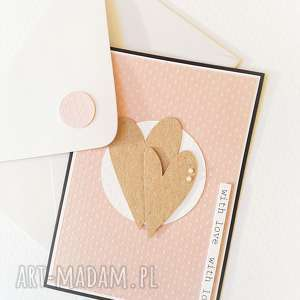 scrapbooking kartki walentynka lub kartka ślubna, ślub