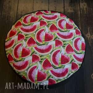 ręcznie wykonane pufy przepiękny pokrowiec w arbuzy do wypełnienia samemu - 60 cm