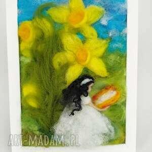magisches-atelier zaczytana wśród narcyzów wiosenny obraz