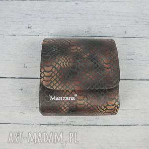 handmade kopertówka mała torebeczka manzana wąż